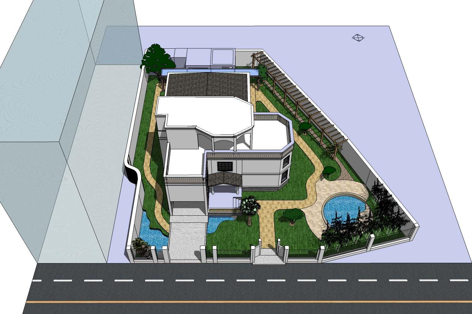 别墅庭总平面设计